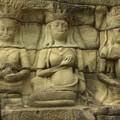 Detail de la terrasse du roi lepreux