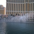 Fountain show in front of the Bellagio Hotel