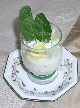 Mousse concombre menthe