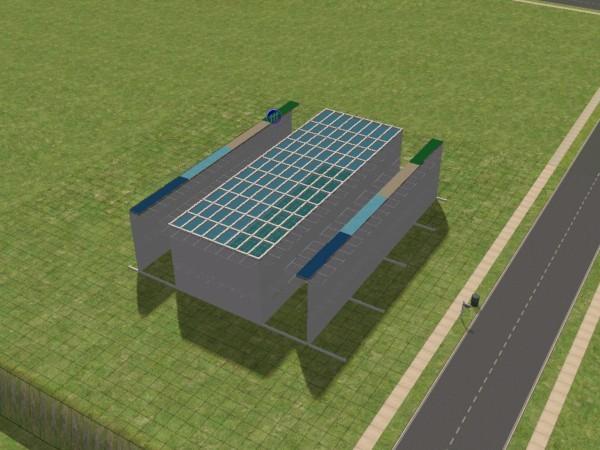 Construction d 39 une verriere ondul e sims 2 site officielle for Construction d une verriere