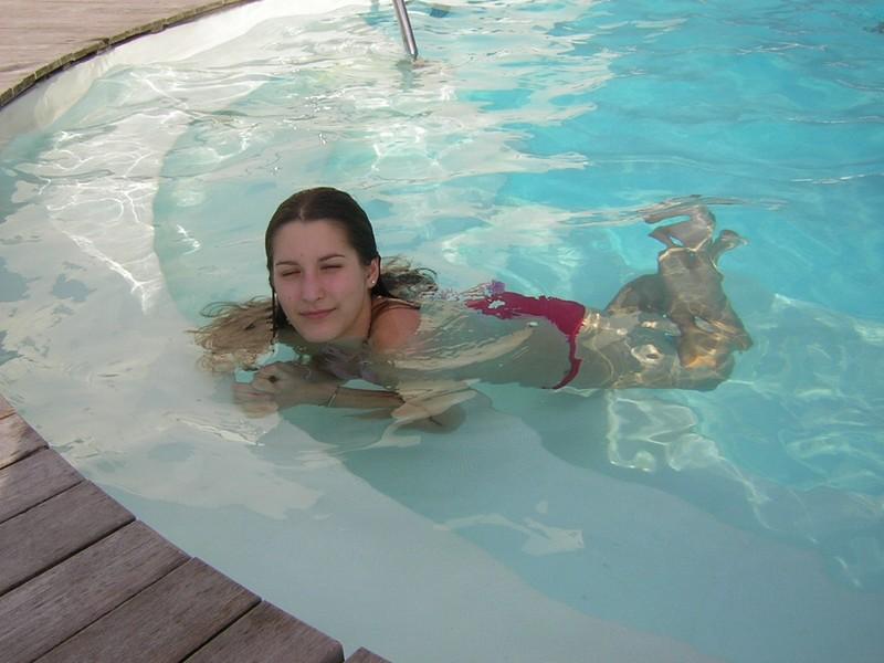 BIARRITZ FEVRIER. la piscine était chauffée!