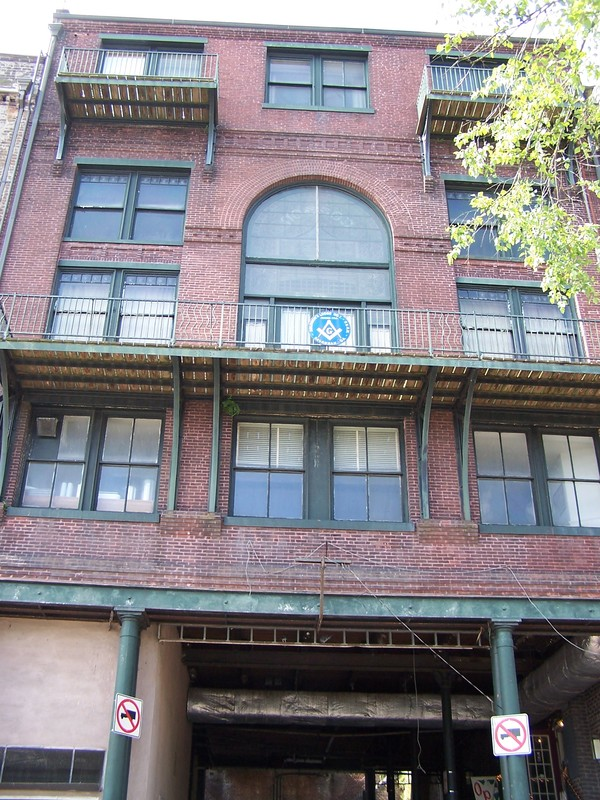 Cotton exchange building (et loge maçonnique). Arrière du bâtiment