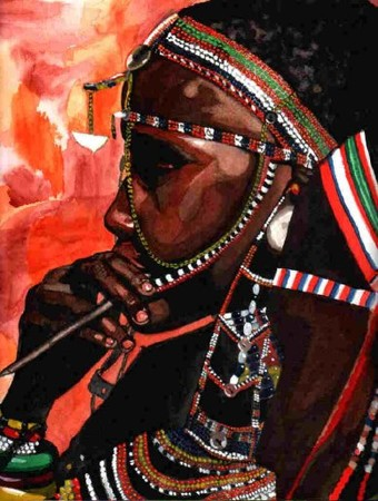 massai_aquarelle