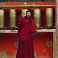 A Monk at the entrance of the monastery