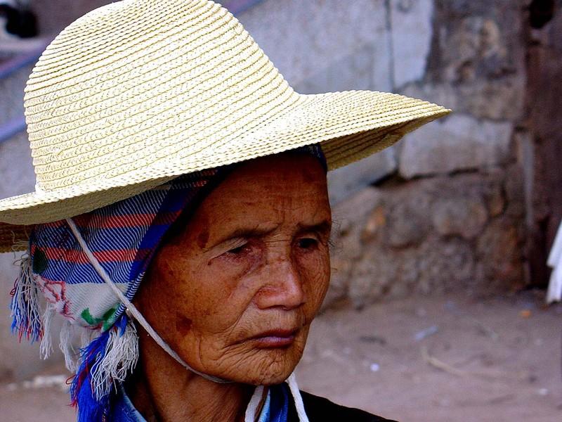 A proud lady in Jianshui