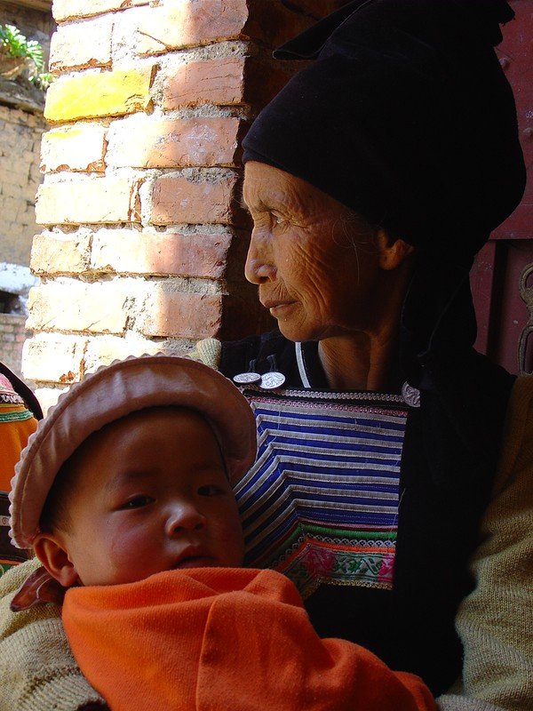 Woman with her baby
