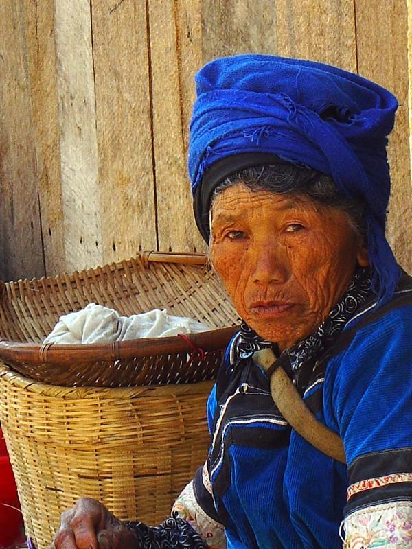 An old woman near Yuanyang