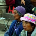 Two woman in Jianshui's main square