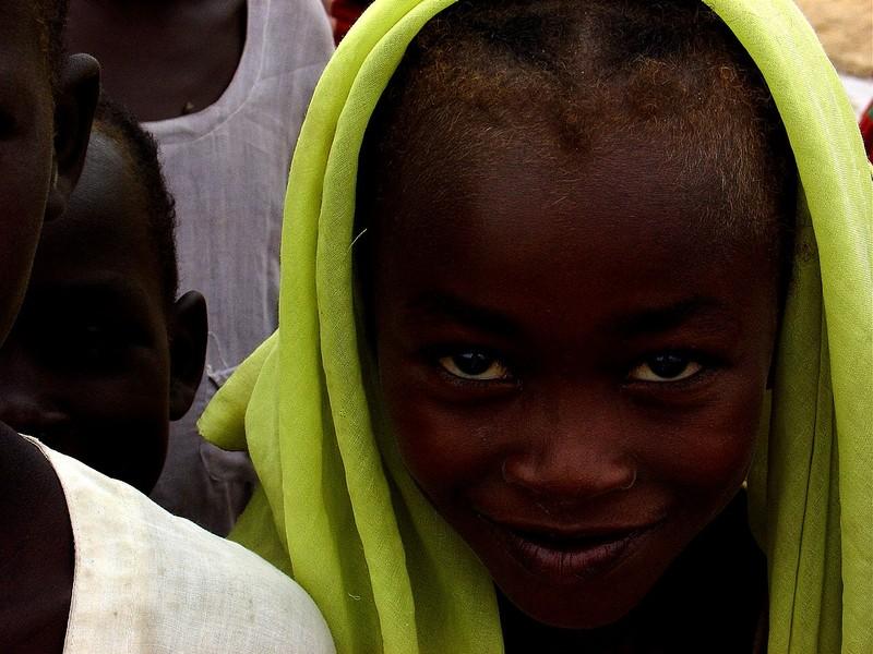 une enfant réfugiée