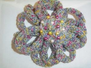 fleur au tricotin