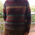 Raglan Sweater With Cable Detail