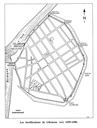 LiBoUrNe - Plan des fortifications 1459-1486