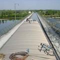 traversée de l' Allier sur le pont canal
