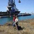 Marine ( en rouge ) et Elisabeth, une amie