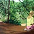 Lecture sur l'ile de Porquerolles - 2003