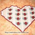 une création personnelle un coeur que je vais certainement coudre sur un coussin