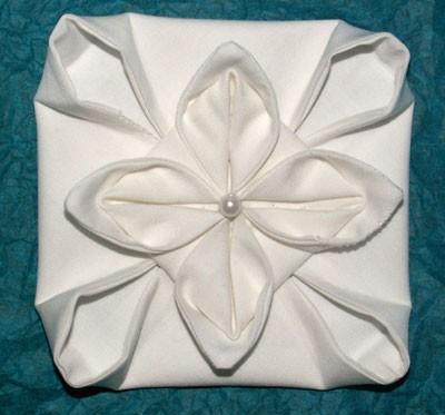 origami textile blanc 2