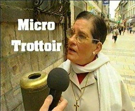 Charline Vanhoenacker et micro-trottoir