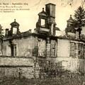 Chateau d'Etrepy après les bombardements
