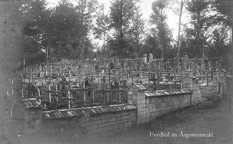 Cimetière allemand dans la forêt d'Argonne