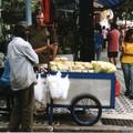 marchand de produits à base de maïs à Sao Paulo