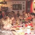 le repas de groupe après le vernissage de l'expo