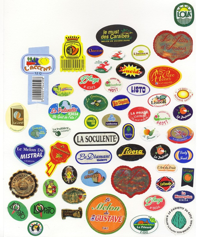 Labels commen ant par les lettres l g f h p ma collection d 39 tiquettes de fruits - Mots commencant par p ...