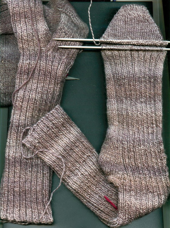 tricoter une chaussette