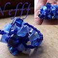 Bague froufrou bleue