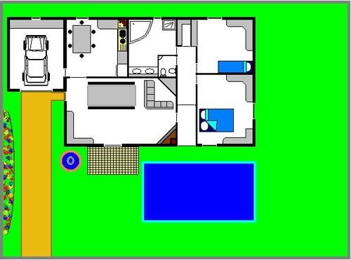 le plan de ma futur maison (en tout cas j'espère)