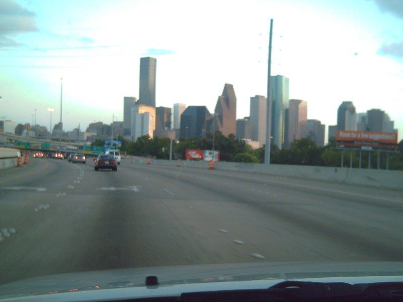 Down town from I45