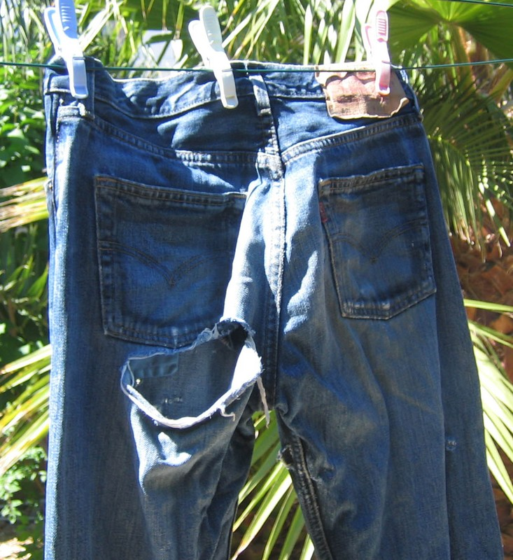 comment coudre un jeans troue