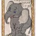 Elephant au point de croix