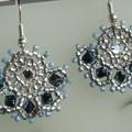 ventaglio blu argento
