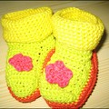 chaussons au crochet - taille 9 mois