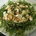Salade de Roquette à la poire et fromage de chèvre
