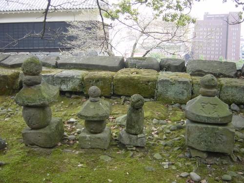 Kumamoto - Lanternes japonaises à l'entrée du Château