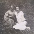 Rambouillet 1926 Jean et Andrée dans le bois du boisjoli