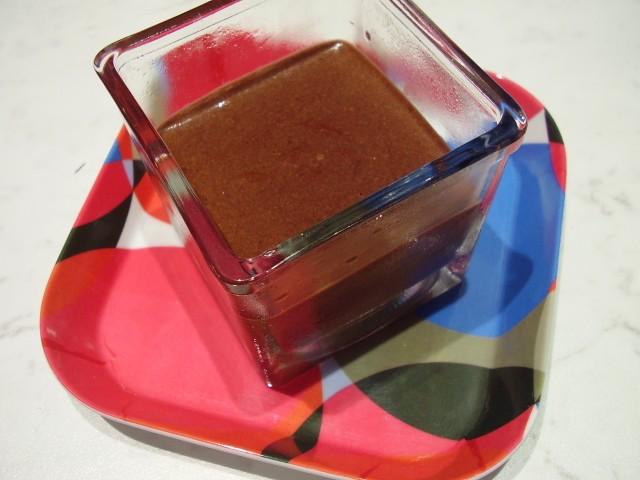 Mousse intense au chocolat noir