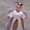 Juliette en petite elfe, c'est un costume que j'avais fait pour Anaëlle en 2003