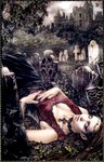 legacy_art_vf_013_favole Demoiselle Gothique se reposant dans un Cimetière