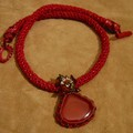 Collier rouge cornaline