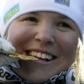 Anja Paerson , 8 victoires , 3 S , 2 G , 2 D , 1 SG