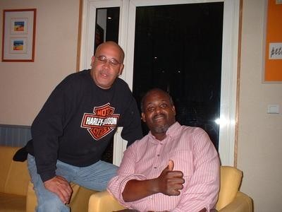 Damian Ross (Ray Charles tour - manager) et Al Jackson (chef d'o