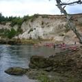 arrivée des Kayaks (il y a Nils qq part, vous pouvez essayer de le reconnaître!)