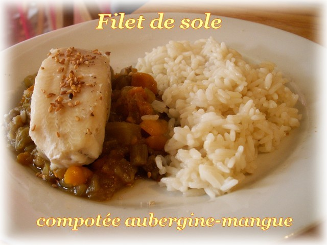 Filet Of Sole. Filet de sole sur compotée