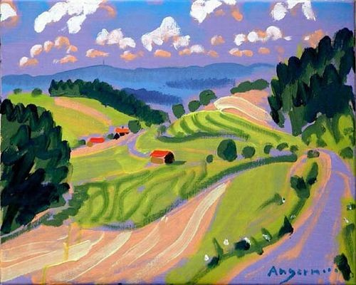Peter angermann ortlesbrunn 2003 40 x 50 cm schilderij olie op linnen