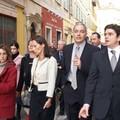 Avec S. Royal dans le Vieux-Nice
