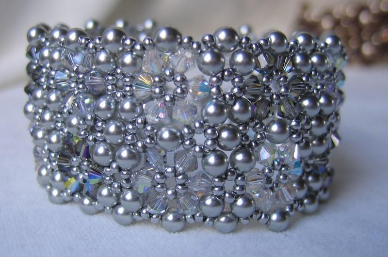 Bracelet gris flocons de Beads de beads n°6