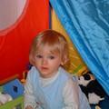 Amélie dans sa tente